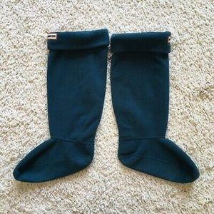 Hunter green tall knit boot sock inserts